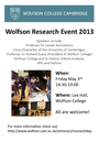 Wolfson Research Event logo