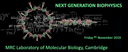 Next Genration Biophysics;  Friday 8th November 2019 logo
